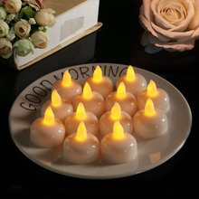 PheiLa LED Candle Lamps Soak Water Light Up Mini Lamp Button Battery Powered for Romantic Valentine Couple Dating Ambient Lamp
