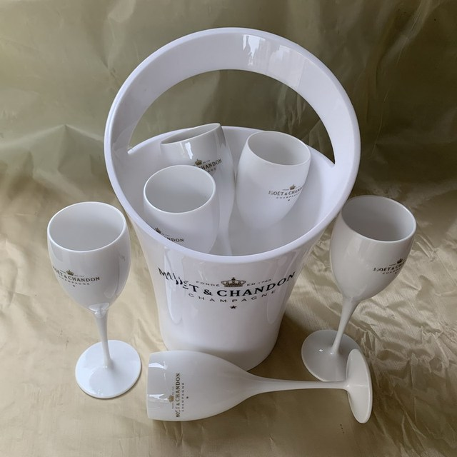 Ice Bucket And Wine Glass Set 1