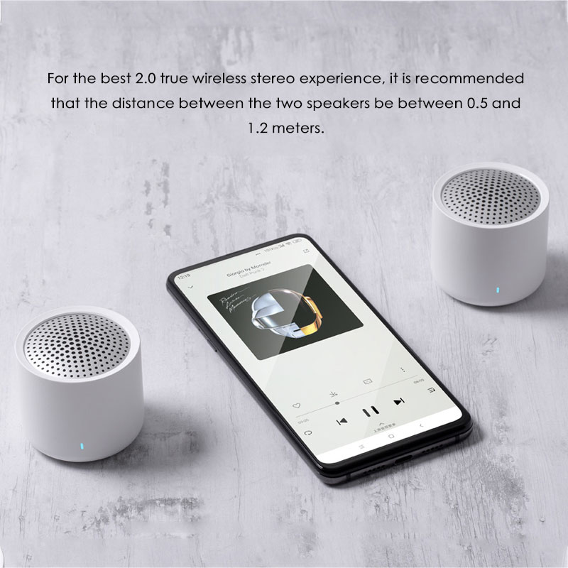 Image 3 - Original Xiaomi altavoz con Bluetooth portátil inalámbrico 5,0 música Audio 2,0 TWS altavoz de sonido estéreo con micrófono para iPhone ipad TabletAltavoces portátiles   -