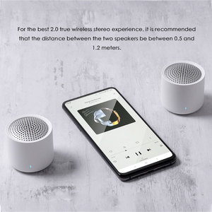 Image 3 - Originele Xiaomi Draadloze Draagbare Bluetooth Speaker 5.0 Muziek Audio 2.0 Tws Stereo Sound Speaker Met Microfoon Voor Iphone Ipad Tablet