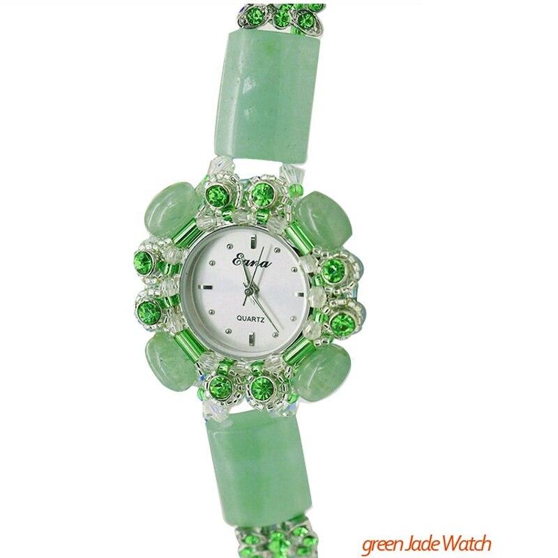 Nouveauté mode femmes Quartz montre-Bracelet filles femme Jade naturel Bracelet bijoux montre-Bracelet étudiants cadeaux
