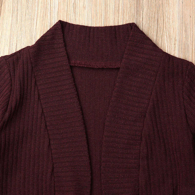 1-6 YearsToddler Bebê da Menina Camisola Ocasional Casaco Macio 2 Estilos Sólidos Knitting Cardigan Outono Casacos Top