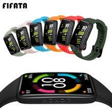 Fifata silicone macio esporte banda cintas para huawei honor band 6 pulseira inteligente substituição pulseira de relógio para honra band6