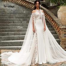 Sevintage свадебное платье русалки с воротником Холтер Кружева