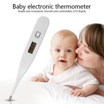 Cyfrowe termometry elektroniczne ekran cyfrowy LCD termometr domowy dla dzieci dziecko dorośli pomiar temperatury łatwy odczyt tanie i dobre opinie CN (pochodzenie) universal for Children Baby Kids Adult other 125mmX15mm