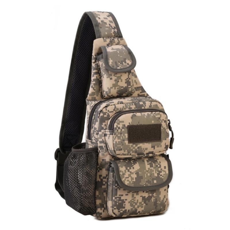 Spor ve Eğlence'ten Tırmanma Çantaları'de Açık avcılık taktik omuzdan askili çanta sürme yürüyüş avcılık kamp seyahat spor çok amaçlı Crossbody göğüs çantası spor title=