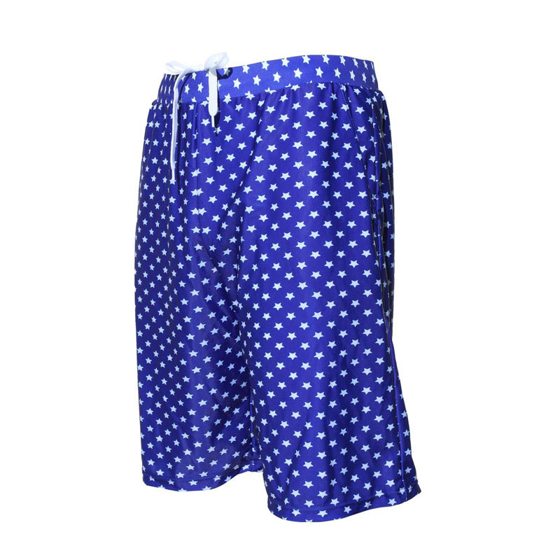 MEN'S Swimming Trunks Trend Beach Shorts Snorkeling Swimsuit Quick-Dry Loose And Plus-sized Large Trunks Star Pattern 5001