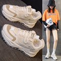 Dad shoes women shoes fashionable new style color matching mesh face ventilation leisure sports white shoes