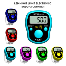 цена на Random color Stitch Marker Row Hand tally Finger Counter LCD Electric Digital Display W/ Light For Sewing Knitting Weave Soccer
