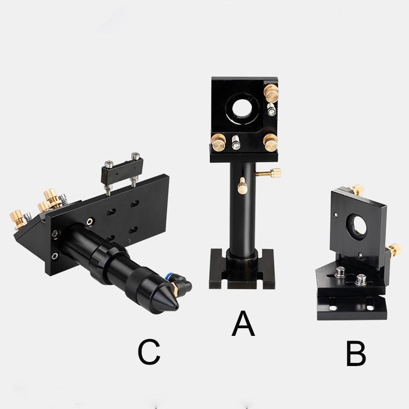 CO2 Laser Head Set / Mirror And Focus Lens Integrative Mount Houlder For Laser Engraving Cutting Machine