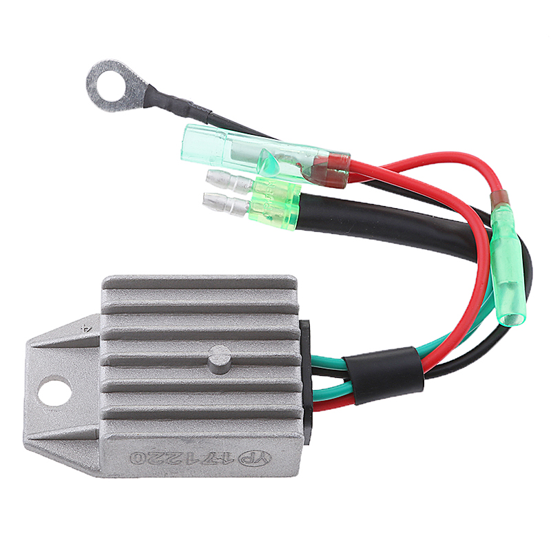 Image 3 - 1 Pcs 4 Wires Boat Voltage Regulator Rectifier Fit Universal 2 Stroke 15HP Marine Boat Outboard 1.57x1.38x0.87″ Aluminium Alloy-in Boat Engine from Automobiles & Motorcycles