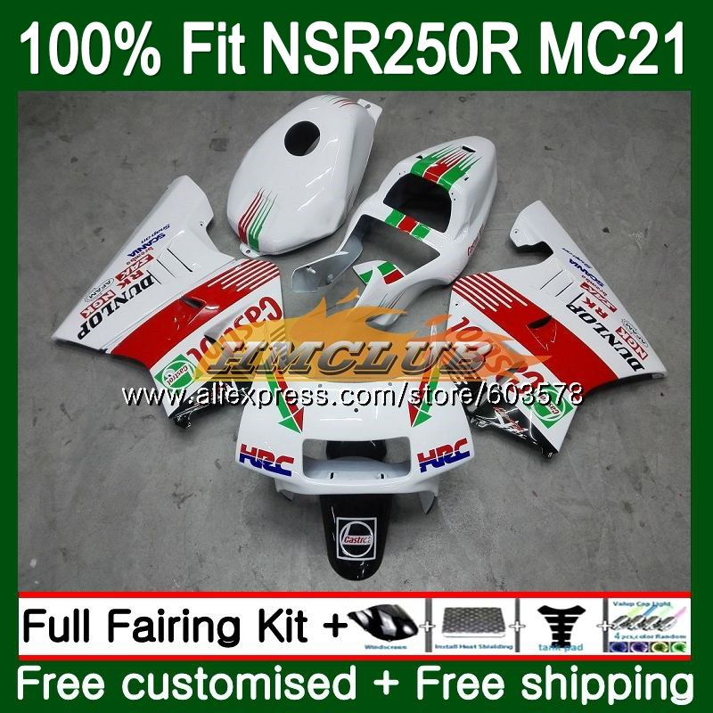 Injection For HONDA NSR250R MC21 PGM3 1990 1991 1992 1993 Castrol red 101CL.12 <font><b>NSR</b></font> <font><b>250</b></font> R NSR250 RR <font><b>NSR</b></font> 250R 90 91 92 93 Fairing image