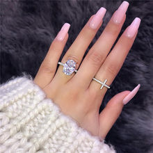 Statement Cross Promise ring 925 Sterling silver AAAAA Cz Stone Party Wedding Band Rings for women Bridal Engagement Jewelry(China)
