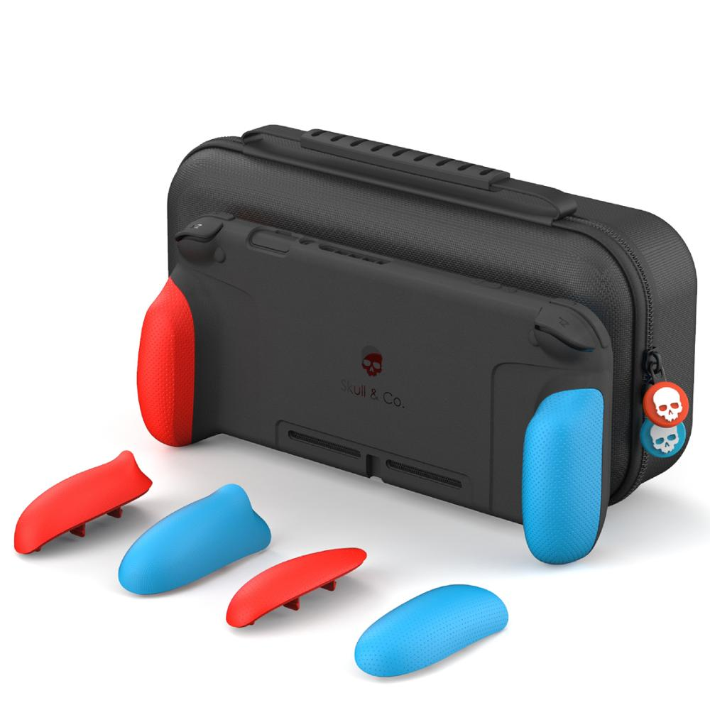 Skull  amp  Co  Nintendo Switch Case Cover GripCase with Replaceable Grips and MaxCarry Case Hard Shell Storage Bag