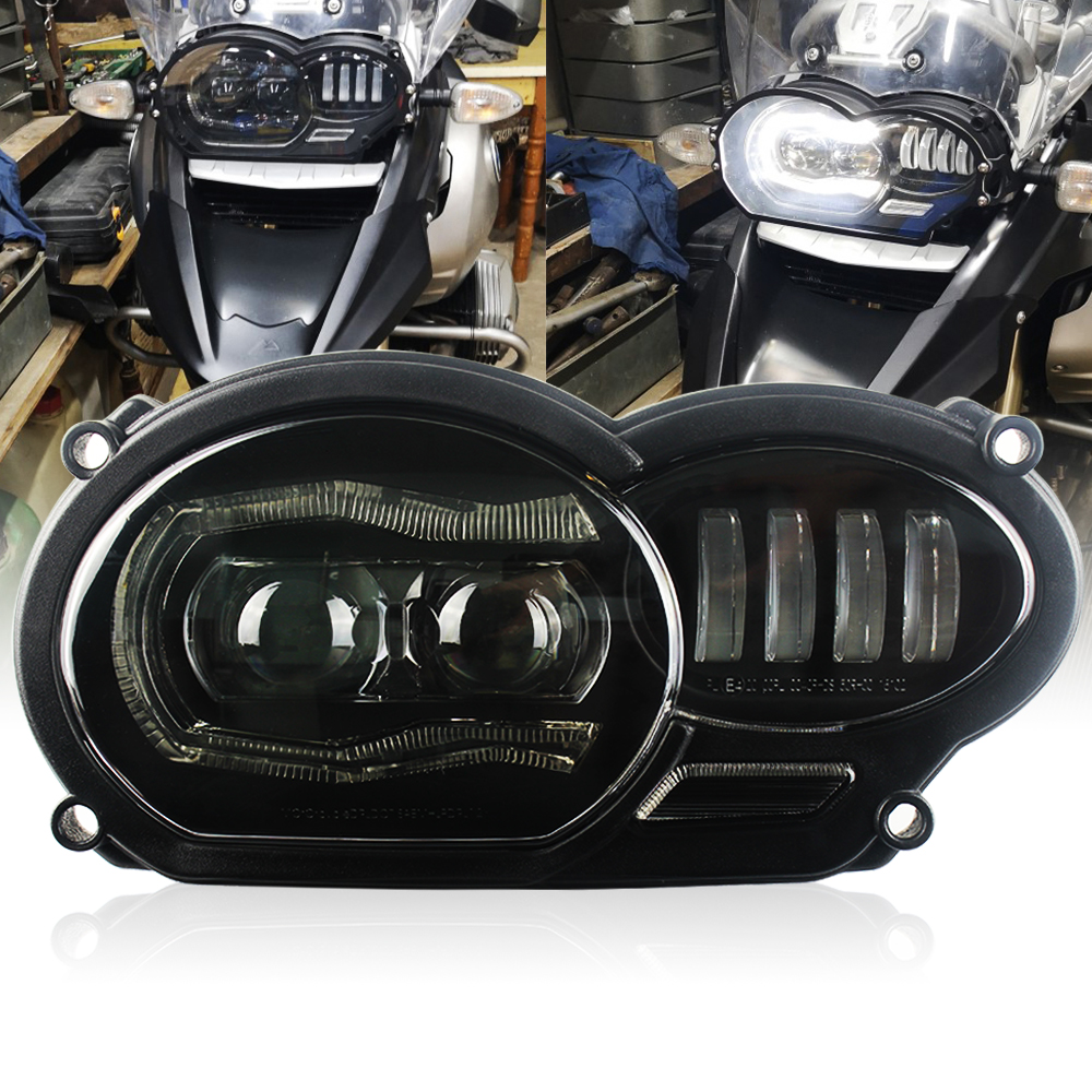 LED Headlight for BMW R1200GS R 1200 GS ADV R1200GS LC 2004-2012 ( fit Oil Cooler)