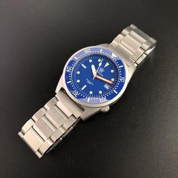 цена Waterproof automatic watch men NH35 Automatic  Stainless Steel Sapphire Crystal ceramic Bezel C3 super luminous mechanical watch онлайн в 2017 году