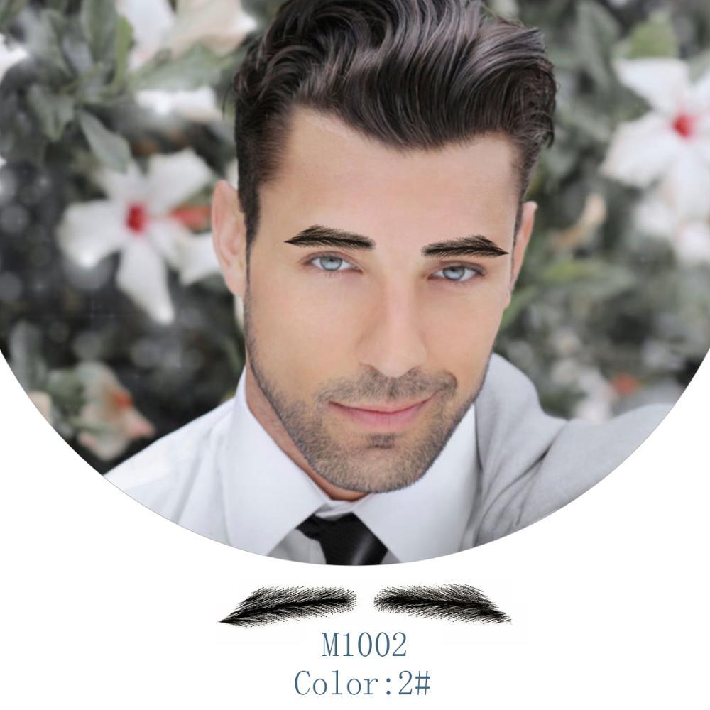 Neitsi 1 Pair Men's Fake Eyebrows 100% Hand Made Human Hair False Eyebrows