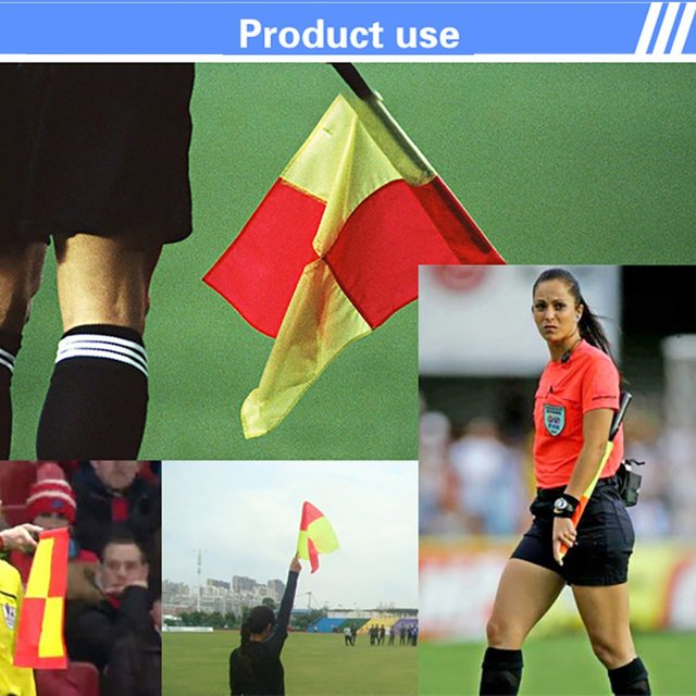 1Pair Soccer Professional Referee Flags