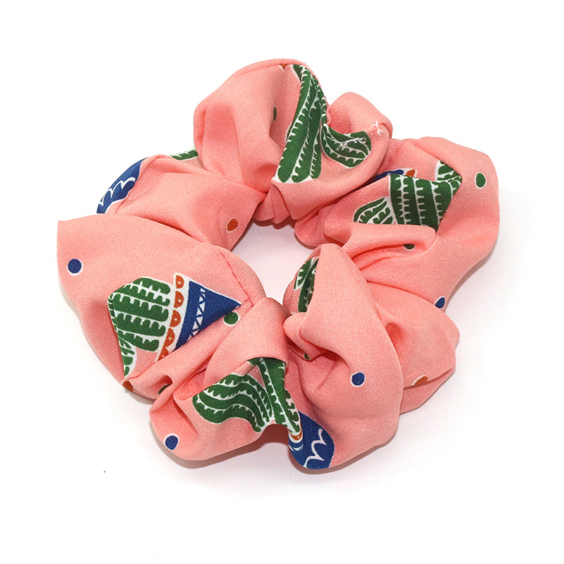 Elastic Headband Korea Print Cactus Hairbands Hair Accessories For Women/Girl Hair Ties Scrunchie Ponytail Holder Fashion 2019