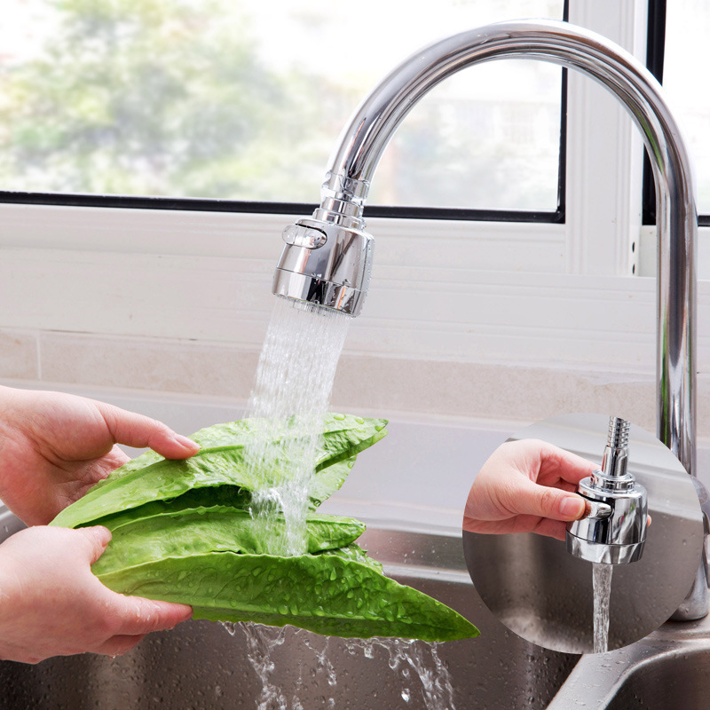 Kitchen Tap Faucet Shower Head Sprayer Tap Sink Faucet Rotating Splash Foaming Water Saving Device  Kitchen Faucets HOT Sale