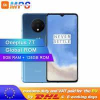 Neue Ankunft Original Oneplus 7 T 7 T Smartphone 8GB RAM 128GB ROM Android 10 Snapdragon 855 Plus 6.55 ''90Hz Bildschirm Kamera 48MP