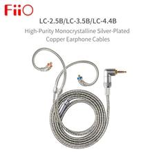 FIIO LC 2.5B LC 3.5B LC 4.4B MMCX سماعة استبدال كابل 4 فروع من عالية النقاء المزروعة الفضة أورينت كابل 1.2m