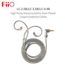 Fiio LC 2.5B LC 3.5B LC 4.4B mmcx fone de ouvido cabo de substituição 4 fios de alta pureza prata cabo occ plantado 1.2m
