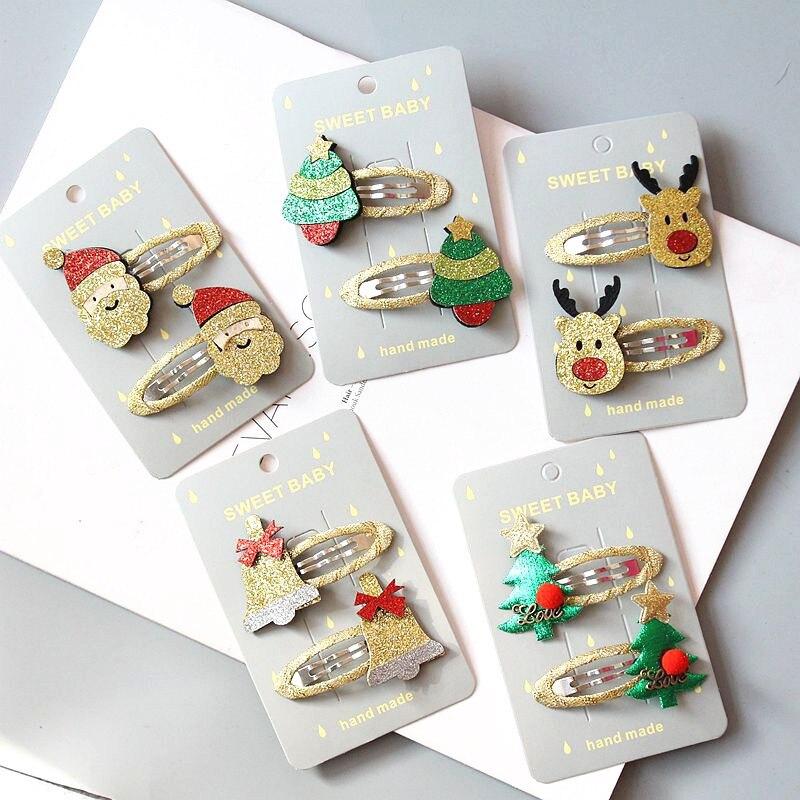 Cute Christmas Hairpins Hair Clip Bands Women Girls Elk Headwear Kids Barrettes Toddlers Charm Jewelry Gift Hair Accessories