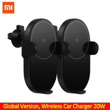 Xiaomi Wireless Car Charger 20W Max  Electric Auto Pinch Qi Quick Charging Mi Wireless Car Charger for Mi 9 iphone X XS Original