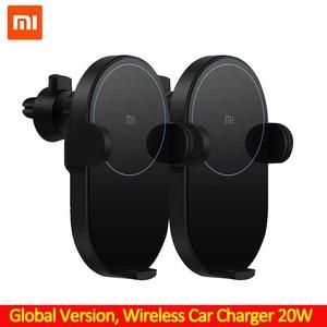 Image 1 - Xiaomi chargeur de voiture sans fil 20W Max électrique Auto pincement Qi charge rapide Mi chargeur de voiture sans fil pour Mi 9 iphone X XS Original
