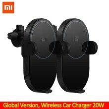 Xiaomi sem fio carregador de carro 20w max elétrico automático pitada qi carregamento rápido mi carregador de carro sem fio para mi 9 iphone x xs original