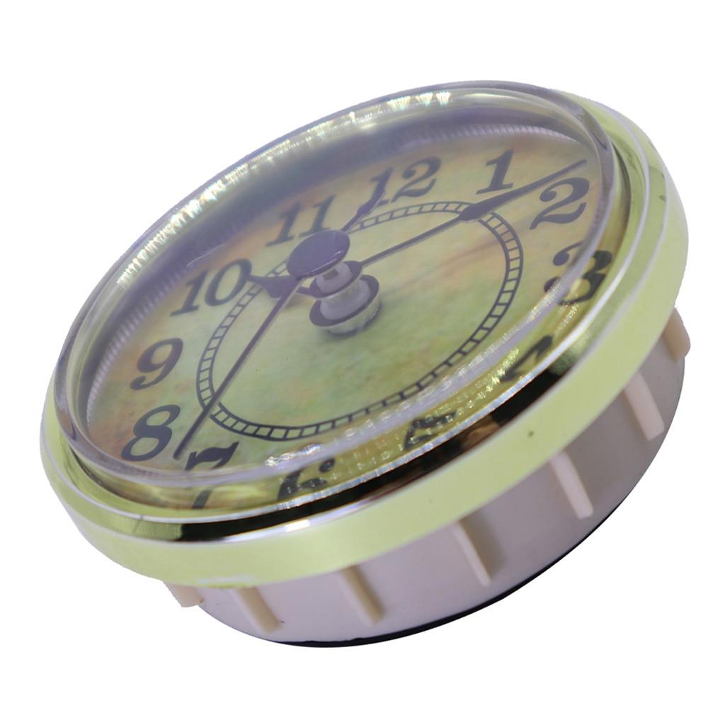 70mm Dial Black Arabic Numeral Quartz Clock Insert Movement With Golden Trim