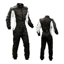 Traje de corrida de carro à prova de vento, 4 cores, camada dupla, para carro e motocicleta, roupa de corrida