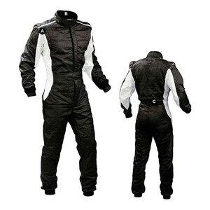 Image 1 - Traje de corrida de carro à prova de vento, 4 cores, camada dupla, para carro e motocicleta, roupa de corrida