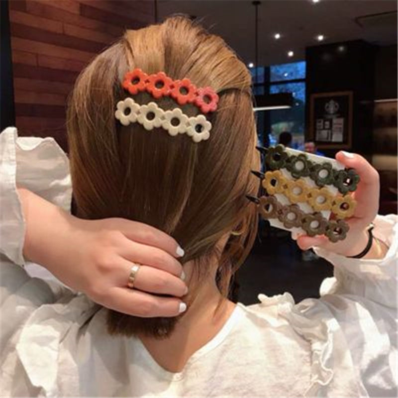 1pcs Japan Women Small Flower Hair Clips Hairpins Candy Color Irregular Barrettes Girls Hairgrips Hair Accessories