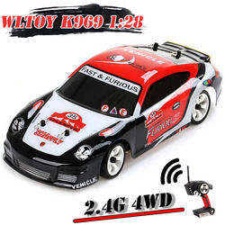 Wltoys K969 1/28 2.4G 4WD High Quality Brushed RC Car Drift Control Remote Car Child Boys Toy 18 Years Gifts for The New Year