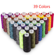 39 Colors 100% Polyester Yarn Sewing Thread Roll Machine Hand Embroidery 200 Yard Each Spool Durable For Home Sewing Kit