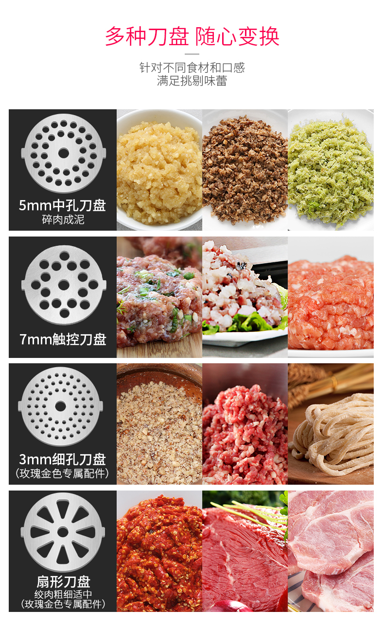 Electric Meat Grinder Household Small Stainless Steel Multi-function Mixing Mince Filling Machine Automatic Commercial Enema 15