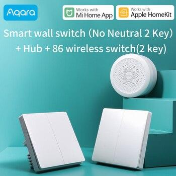 Aqara wall Switch /Gateway Hub ZigBee version Smart Home Light Switch Work with Xiaomi Mijia Mi Home APP Apple HomeKit