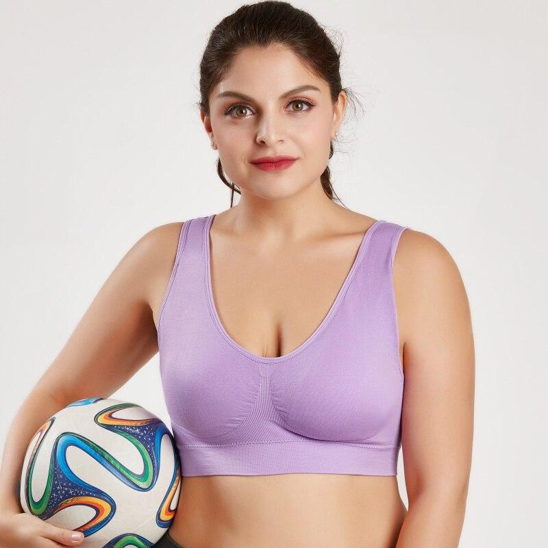 Plus Size Sports Bra Women Padded Wirefree Sport Brassiere Woman High Impact Fitness Yoga Workout Sports Top 4XL 5XL 6XL