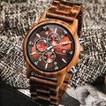 Часы мужские  модные  деревянные  многофункциональные  с календарем