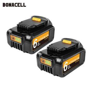 Image 1 - Bonacell 6000mAh 18V MAX XR for Dewalt Power Tool Battery for DCB180 DCB181 DCB182 DCB201 DCB201 2 DCB200 DCB200 2 DCB204 2 L50