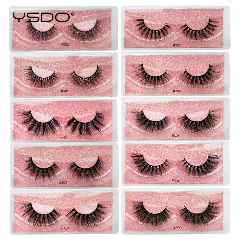 YSDO 1 Pair 3d Mink False Eyelashes Natural Long Mink Lashes Cruelty Free Lashes Eyelashes Maquiagem Soft Wispy Lashes Faux Cils