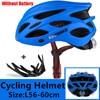 Kingbike 2019 novo design preto capacetes de bicicleta mtb mountain road ciclismo capacete da bicicleta casco ciclismo tamanho L-XL 15
