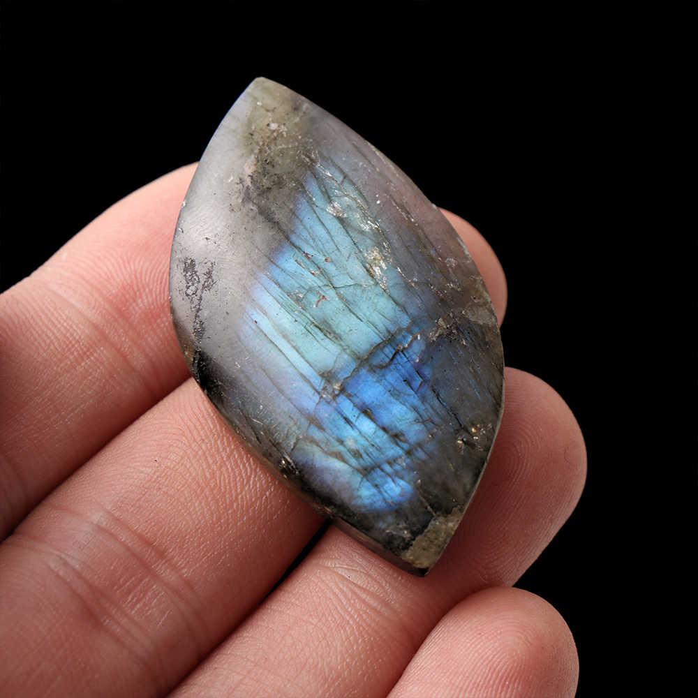 Dari Madagaskar Penyembuhan Batu Mineral Spesimen Batu Bulan Liontin Natural Labradorite Dipoles Dekorasi Kerajinan DIY Aksesori