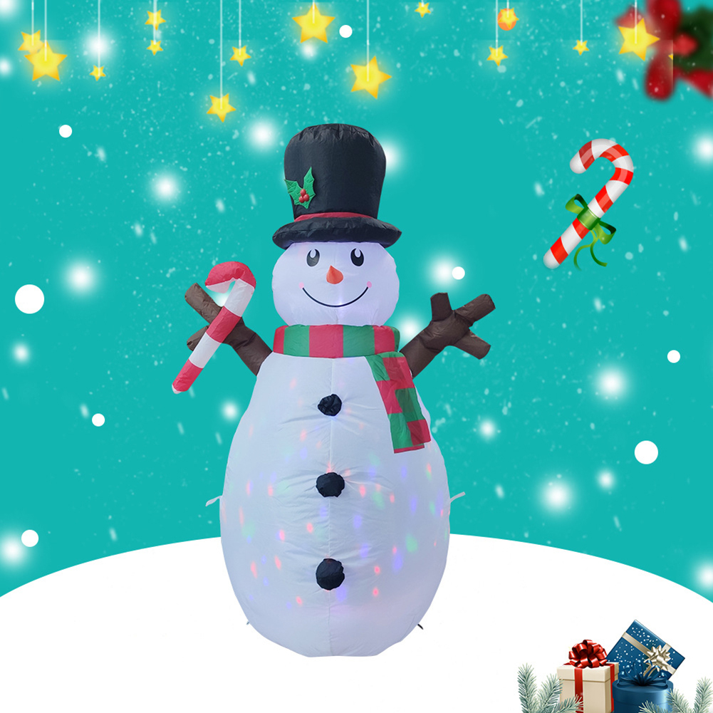 160cm Christmas Decorations Upgraded Snowman Inflatable Props Inflatable Toy Indoor Outdoor Yard Garden Decorations-4