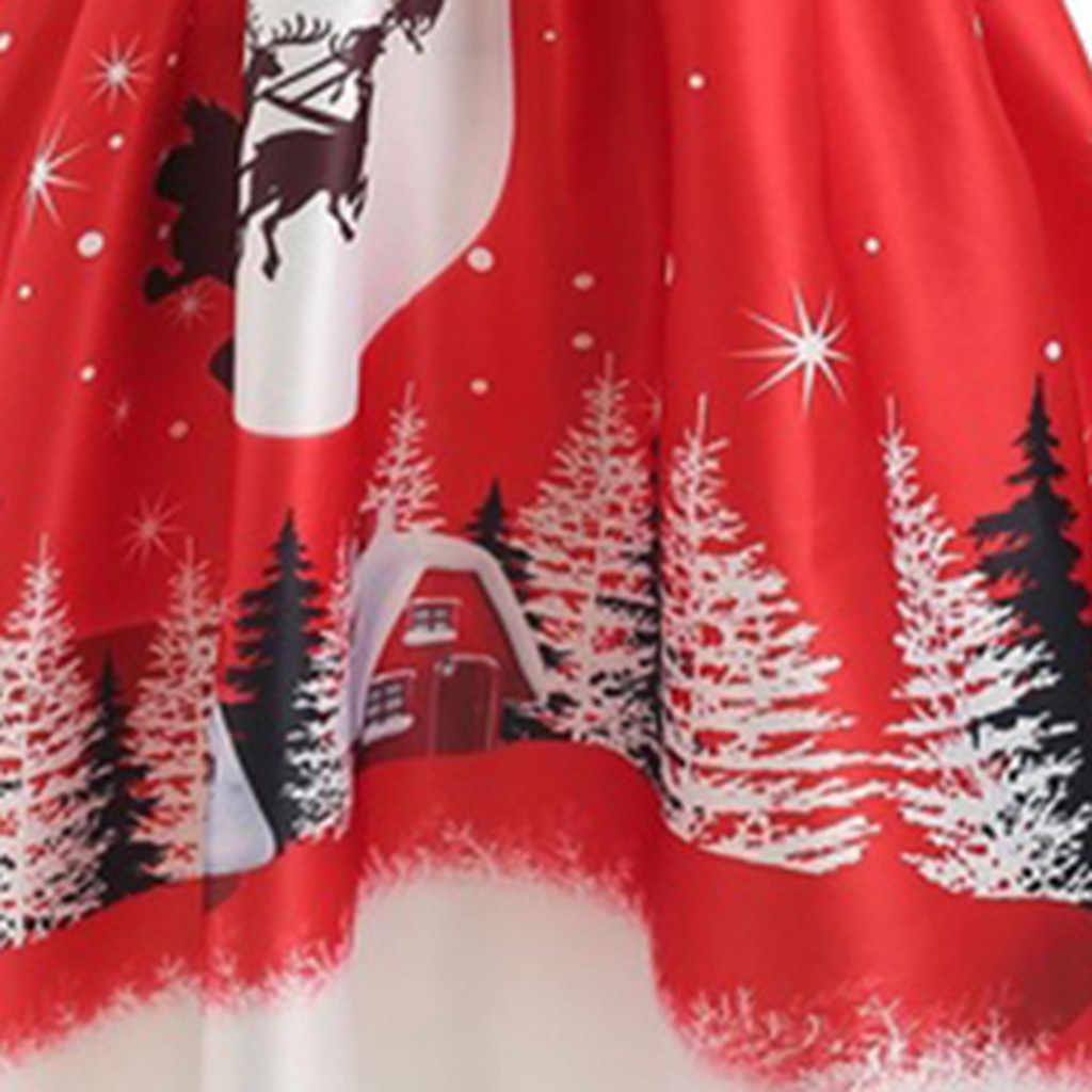 חג המולד הדפסת שמלת נשים מזדמן רופף יום סקסי כבוי כתף ארוך שרוול שמלות נקבה גבוהה מותן בתוספת גודל מפלגה שמלה