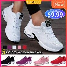 Модные женские легкие кроссовки, обувь для бега, уличная спортивная обувь, дышащая сетка, удобная обувь для бега, на воздушной подушке, на шнуровке