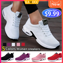 Купить с кэшбэком Fashion Women Lightweight Sneakers Running Shoes Outdoor Sports Shoes Breathable Mesh Comfort Running Shoes Air Cushion Lace Up