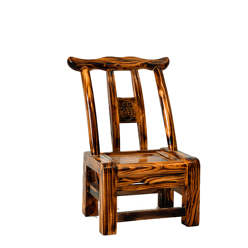 Pine Chair Solid Wood Rural Old-fashioned Dining Chair Child Farmhouse Hotel Chair Change Shoe Bench Home Back Chair